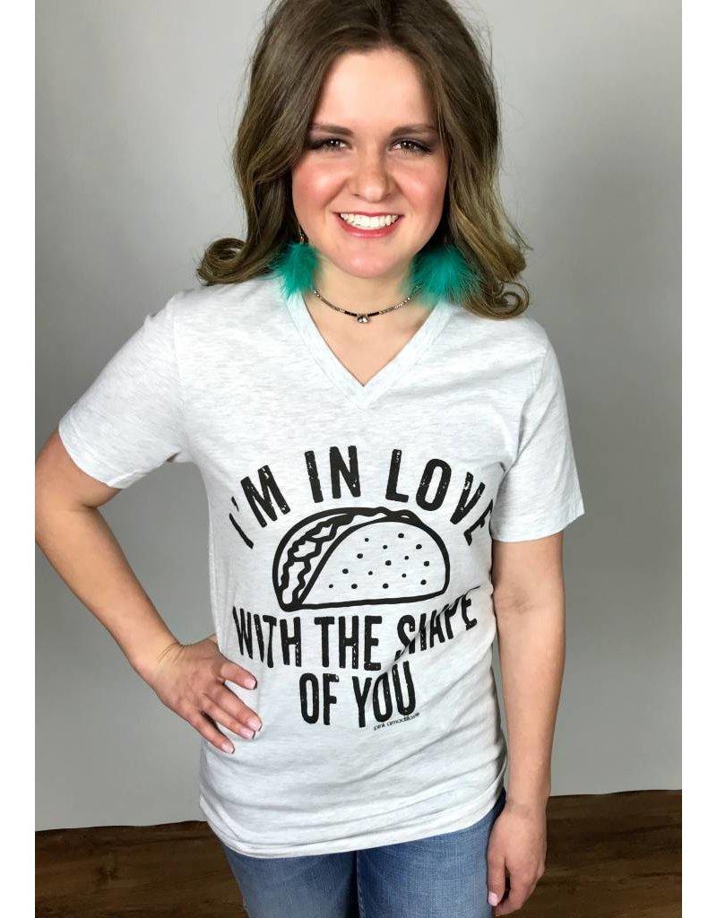 "Ash ""Shape of You"" Taco V-Neck T-Shirt"