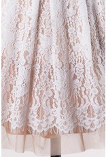 Lillie's Nude Mesh Embroidered Floral Sleeveless Dress