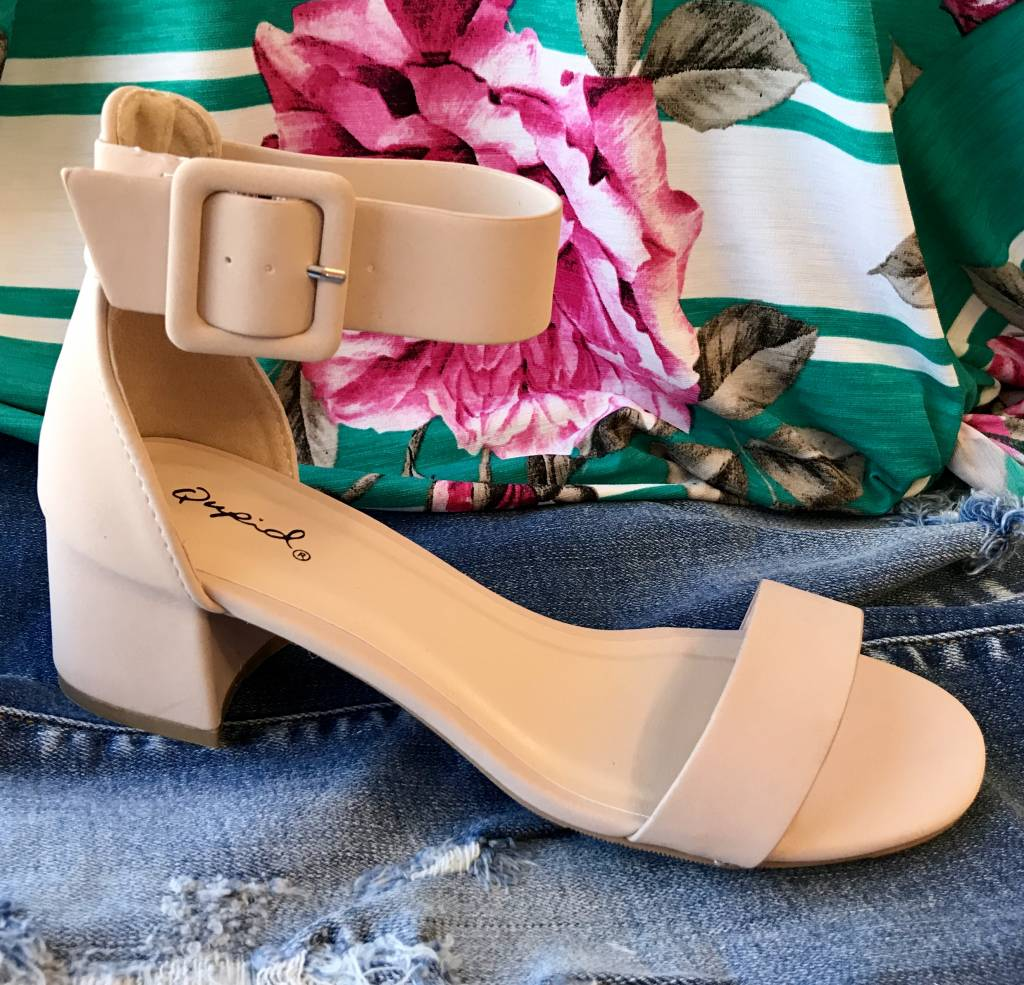 Lillie's Nude Simple Strap Heel Sandal