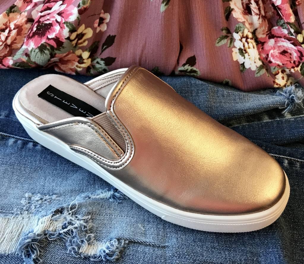 STEVEN by Steve Madden Rose Gold Sneaker Mule