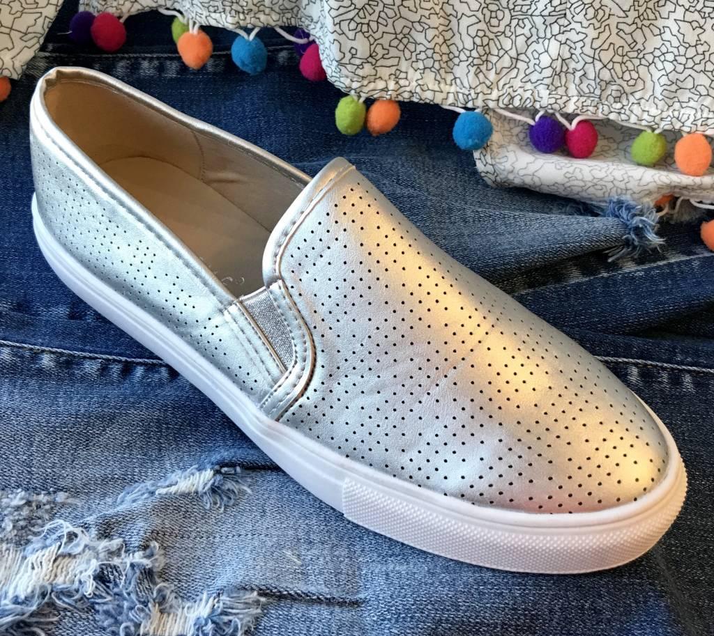 Silver Tennis Shoe