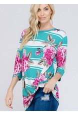 Jade Floral Knotted Top