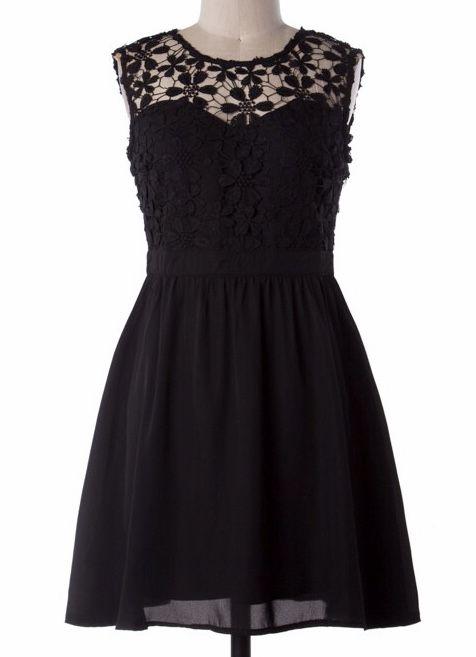Lillie's Black Floral Lace Dress