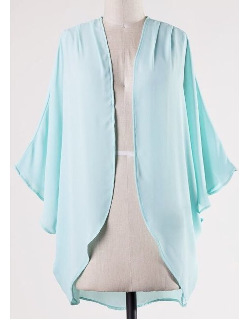 Lillie's Light Teal Open Front Kimono- SALE ITEM