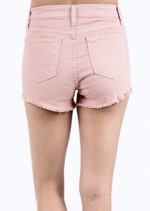 Faded Pink Distressed Bootie Shorts
