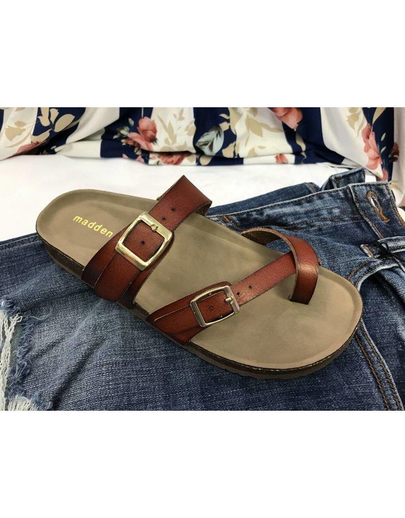 Cognac Footbed Sandal