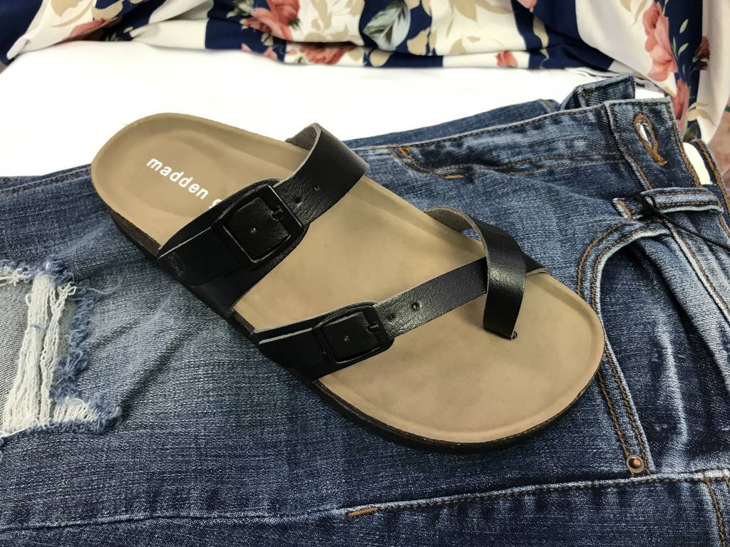 Black Footbed Sandal