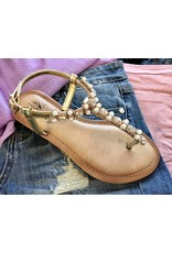 Gold Pearl Sandal- SALE ITEM