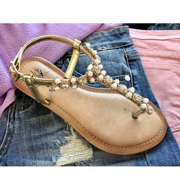 Gold Pearl Sandal