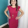 Hot Pink Shoulder Ruffle Sleeveless Dress