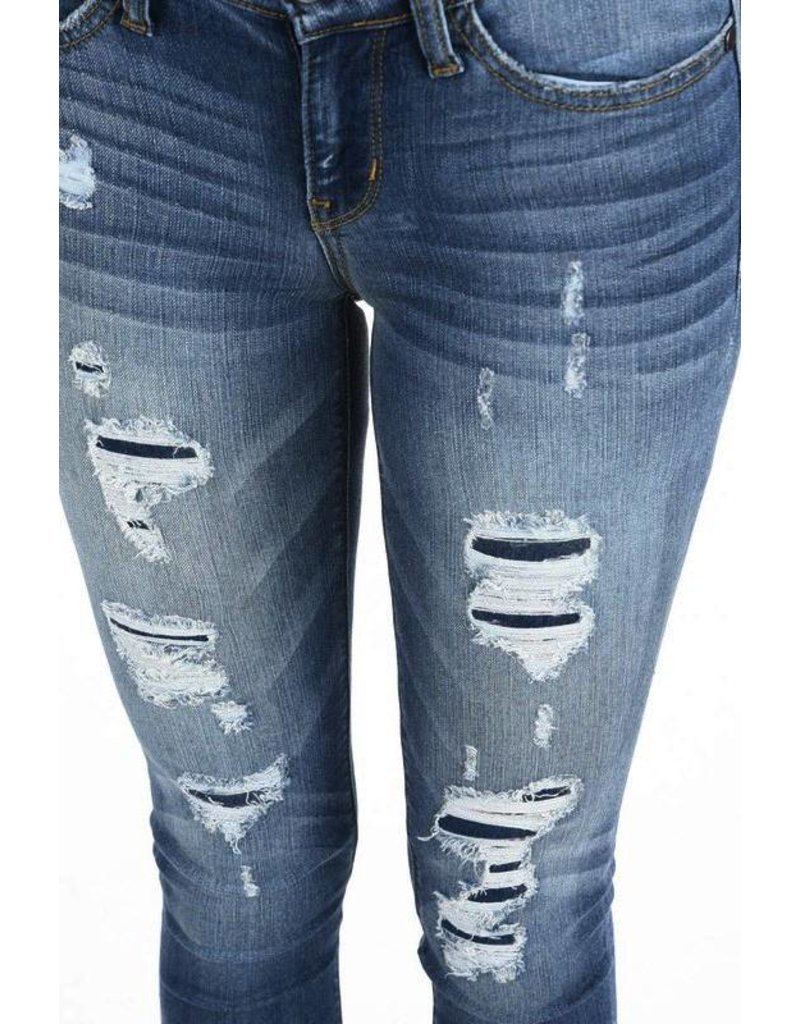 Judy Blue Washed Patched Skinny Jean
