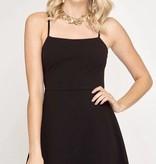 Black Strap Simple Dress
