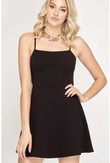 Black Strap Simple Dress