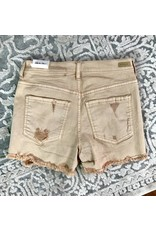 Blush Distressed Frayed Short Shorts