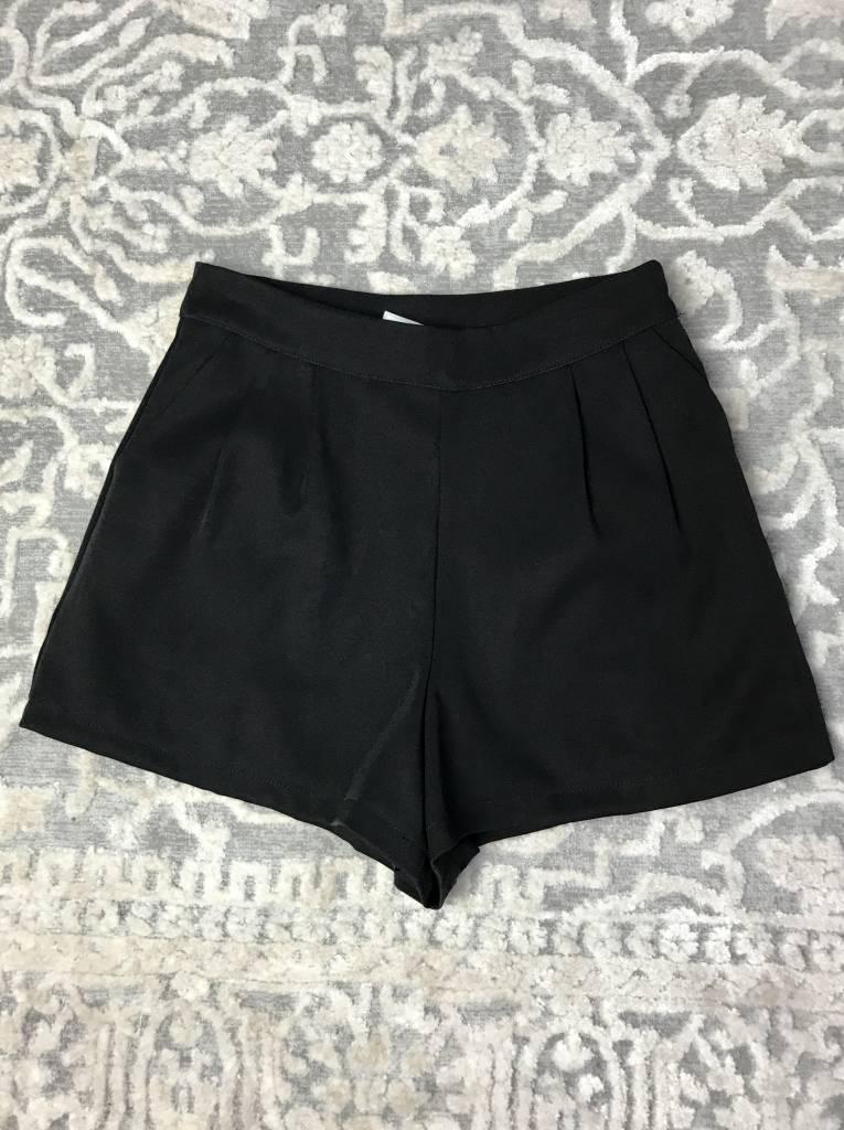 Black Layered Short Shorts