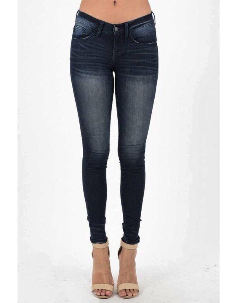 Lillie's Dark Faded Skinny Jeans