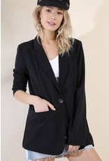 Black Professional Collared Blazer