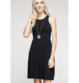 Lillie's Black Solid Sleeveless Simple Dress