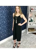 Lillie's Black Sleeveless Simple Jumpsuit