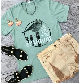 """Heather Sage """"His Eye Is On the Sparrow"""" T-Shirt"""
