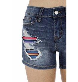 Lillie's Denim Distressed Cover-Up Short Shorts- SALE ITEM