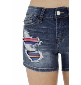 Lillie's Denim Distressed Cover-Up Short Shorts