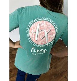 Seafoam Texas Spring Chalk Art T-Shirt