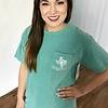 Seafoam Texas Spring Chalk Art T-Shirt-SALE ITEM