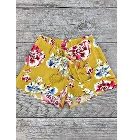 Turmeric High Rise Floral Shorts