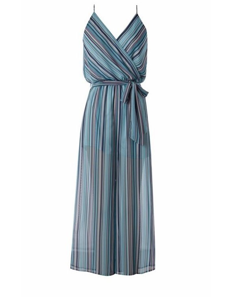 Jade Striped Jumpsuit with Waist Belt
