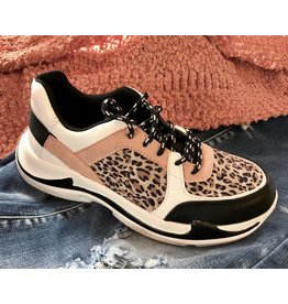 Leopard/Mauve Sneaker