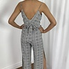 Black/White Houndstooth Jumpsuit
