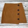 Mustard High-Rise Button Detail Skirt