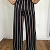 Navy High Rise Striped Pant