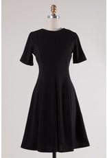 Black Round Neck SS Dress