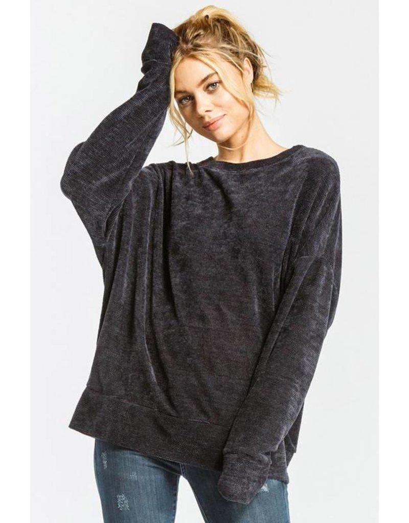 Navy Round Neck Soft Sweater