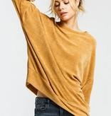 Mustard Round Neck Soft Sweater