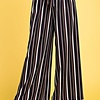 Black/ Burgundy and Ivory Striped Self Tie Pants