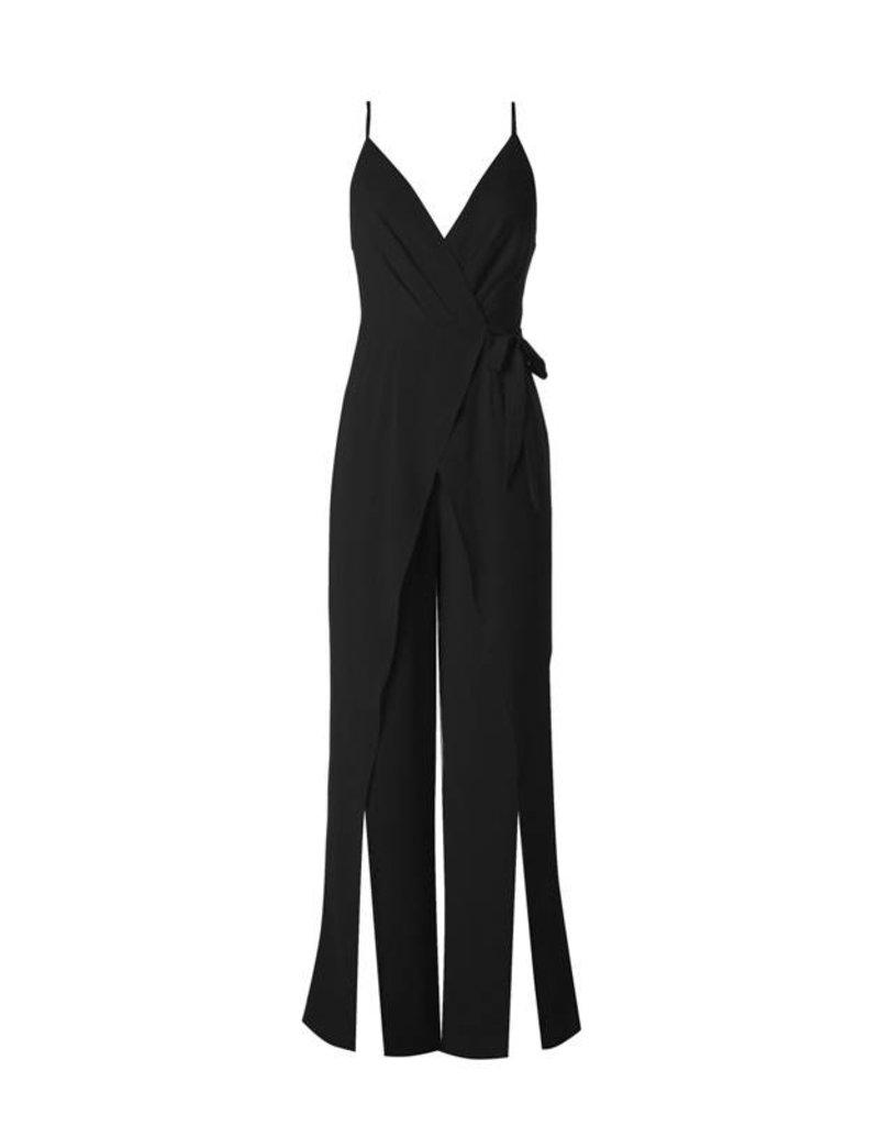 Black Crossover Sleeveless Jumpsuit