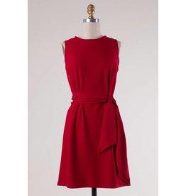 Red Sleeveless Self-Tying Knot Dress