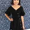 Black Dress with Button Detail