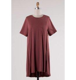 Brick SS T-Shirt Dress