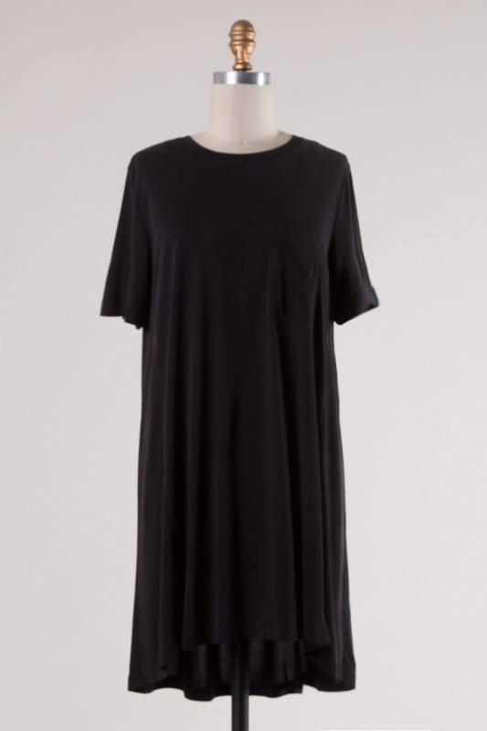 Charcoal SS T-Shirt Dress
