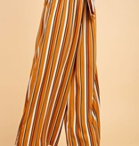 Bronze and Black Striped Self Tie Pants- SALE ITEM