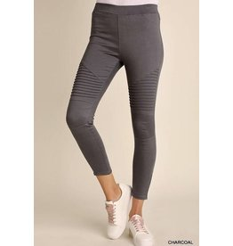 Charcoal Washed Moto Jegging