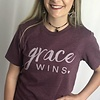 "Faded Burgundy ""Grace Wins"""