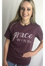 "Faded Burgundy ""Grace Wins"""