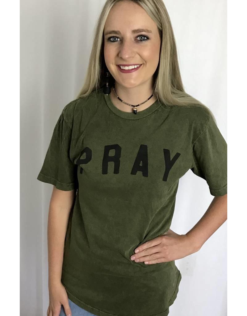 "Olive ""Pray"" T-Shirt-SALE ITEM"