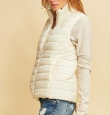 Cream Puffer Vest