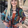 Multi Colored Patched Button Down Top